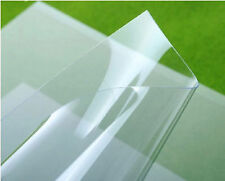 "0.02"" 0.04"" 0.06"" POLYCARBONATE PC LEXAN CLEAR SHEER PLASTIC SHEET FOIL #N41"