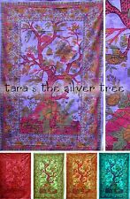 6 Colour TREE OF LIFE Hippy THROW Sofa BEDSPREAD Wall hanging DOUBLE uk Supplier