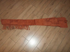 BN Brown Suede Leather Fringe Winchester 94 Marlin1895 Rifle Saddle Scabbard 60""