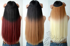 New Fashion 24 Inches 3/4 Thick Ombre Dip Dye Clip in Remy Hair Extensions