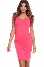 NWOT CUTE SCOOP NECK SHORT SLEEVES CASUAL BODYCON COCKTAIL SUMMER DRESS S M L