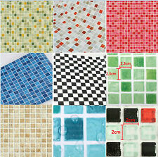 Mosaic Brick Tile Film Room Decorative Vinyl Wall Sticker Paper Wrap #N1A