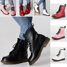 leather military lace up motorcycle shoes women's winter combat boots