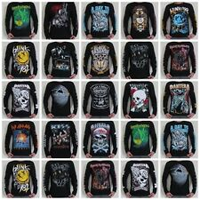 Unisex Retro Rock Long Sleeve T-Shirt Mens Womens Jumper Sweater Sizes S M L XL