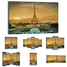 Canvas Print Framed Picture 47 Shapes Wall Art Paris eiffel tower France 0435 UA