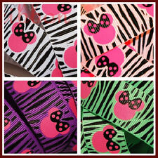 10 YD 7/8 Minnie Zebra Print Grosgrain Ribbon U-Pick
