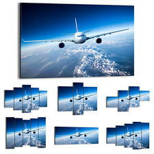 Canvas Print Framed Picture 47 Shapes Wall Art aircraft airplane sky 2723 UA