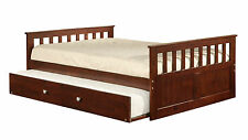 """""""ECO"""" CAPTAIN'S BED - TWIN OR FULL WITH TRUNDLE OR DRAWERS OPTIONS"""