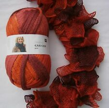 RICO CAN CAN PRINT frilly scarf yarn 200g ball