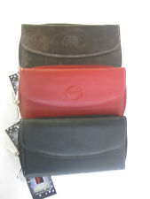 LADIES Brown, Black OR Red  CARD HOLDER AND COIN PURSE - FABRETTI -33365