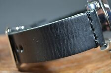 MA WATCH STRAP 24MM GENUINE CALF LEATHER BAND HANDMADE SPAIN PANERAI COL I-BLACK