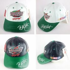 BOBBY LABONTE #18, INTERSTATE BATTERIES NASCAR BASEBALL LEATHER HAT/CAP