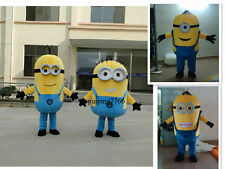 Minions Despicable Me Mascot Costume EPE Fancy Dress Outfit Adult