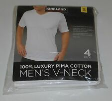 NEW Men's KIRKLAND SIGNATURE 4 Pack V-Neck T-Shirts Various Sizes