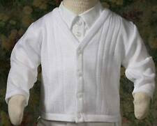 Boys  Baptism Christening Sweater  CLOSEOUT CLEARANCE SALE