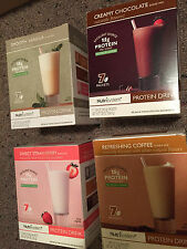 Nutrisystem protein shakes coffee chocolate strawberry banana tropical smoothie