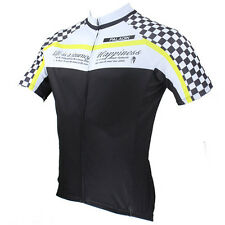 Men Man Grid Short Sleeve Cycling Jersey Bike Bicycle Sports Outdoor Rider D023W