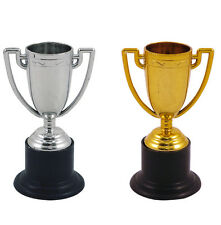 6 Winners Trophys - Choose Gold Or Silver Colour - Party Bag Filler Cup