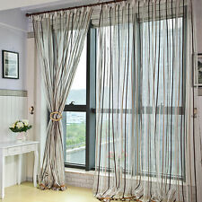 High quality chenille stripes home screen/sheer curtain/treatment/tape for hook