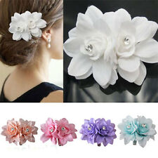UNIQUE BIG HAIR FLOWER CLIP PIN FOR BRIDAL WEDDING PROM PARTY GIRL WOMEN