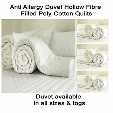 Brand New Anti Allergy Duvet Hollow Fibre Filled Poly-Cotton Quilts All Size