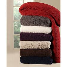 Extra Plush Cuddly Sherpa Cabin Throw Blanket 60 X 70in. Reversible micro mink