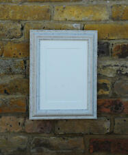"Picture Photo Frame -White Wash Distressed Finish - Picture Sizes: 6"" x 4"" to A3"