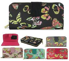 LADIES DESIGNER BUTTERFLY OILCLOTH LARGE PURSE WALLET COIN PURSE HANDBAG BAG