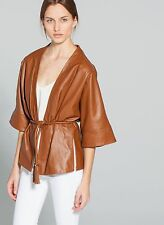 UTERQUE (ZARA COMPANY) WOMEN's LUXURY LEATHER KIMONO JACKET. NEW SEASON 2014