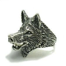 R000329 STERLING SILVER RING SOLID 925 WOLF