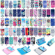 Fashion Flip Printed PU Leather Holder Case Cover For Samsung Galaxy S4/S4 Mini