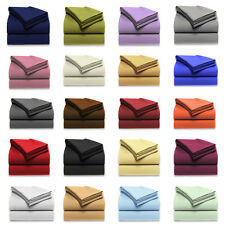1000TC DUVET COVER SET WITH FITTED SHEET SOLID 100% EGYPTIAN COTTON IN ALL COLOR