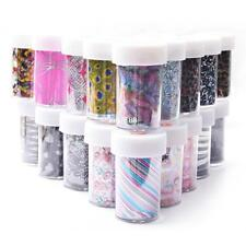 Nail Art Transfer Foil Nail Sticker Tip Decal Decoration Design DIY 18 Style