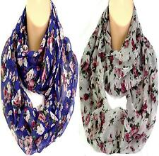 Gorgeous Floral Circle Loop Infinity Scarf Snood - Brand New Colours!!