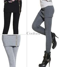 Women Warm Winter Skinny Slim Leggings Thick Footless Tights Stretch Pants