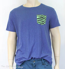 American Eagle Outfitters Printed Pocket Tee Mens Blue T-Shirt Vintage Fit NWT