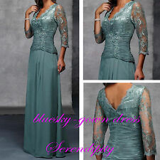 3/4 Sleeve Lace Mother of the Bride Dresses Formal Evening Prom Party Ball Gown