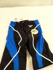 Speedo Youth Boys Swim Jammer Swimwear Optic Spliced Jammer Black / Blue