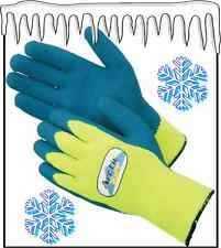 Arctic Tuff 4789 Hi-Vis Heavy Thermal Lined Cold Weather Glove w/Latex Palm Coat