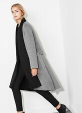 UTERQUE (ZARA LUXURY) REVERSIBLE WRAP COAT. WOOL & CASHMERE. NEW SEASON AW 2014