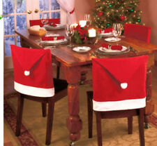 Hot Santa Hat Christmas Decorations Chair Covers Dinner Decor Chair Sets 60x50cm