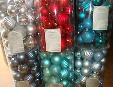 34 Luxury Shatterproof Xmas Christmas Tree Baubles/Decorations, Various Colours