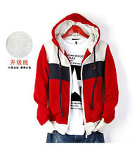 Fashion Korean Men's Slim Fit Top Designed Hooded Hoodies Coats Jackets Tops