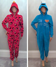 Adult WOMENS PRIMARK All in One Onesie Pyjama SESAME STREET COOKIE ELMO Costume