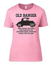 Old Banger 30 Years Old Womens Ladyfit Funny T-Shirt 30th Birthday Gift Present