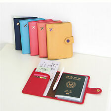 Fashion Cute 6 Colors Air Travel Passport Cover Case Card Holder Leather Wallet