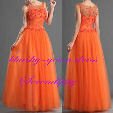 2014 New Long Bridesmaid Evening Formal Party Ball Gown Prom Dresses Custom Made