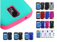 Impact Silicone +Hard Case Hybrid Cover for T-Mobile Samsung Galaxy S II T989