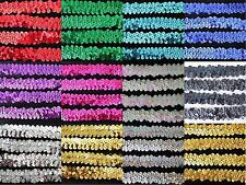 1 YARD SEQUINS STRETCH ELASTIC SEWING CRAFT 18MM TRIMMING DANCE COSTUME DRESS