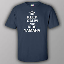 Funny T-shirt KEEP CALM AND RIDE YAMAHA - motorcycle bike motorbike